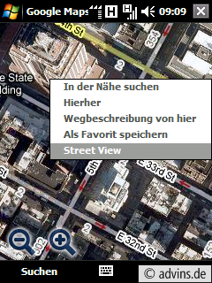 GMM Kontextmenü zu StreetView